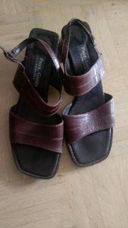 Sandale echt Leder in braun