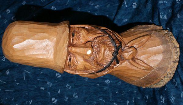 Gaucho Skulptur Figur Holzfigur Facón