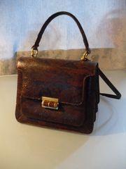 Handtasche mit Kroko-