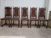 5 antike bretonische Stühle