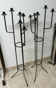 2 Kerzenständer aus Eisen