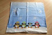 Verkaufe Fleece-Bettwäsche-Set für Kinder Pinguinmotiv