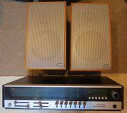 Telefunken-Radio mit Boxen