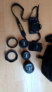 Nikon D3100 Tasche Objektive Zubehör