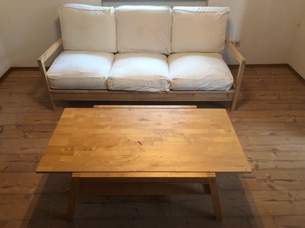 Ikea Couch Sofa Dreisitzer Mit Couchtisch Tisch Wohnzimmer In