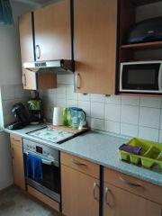 Einbauküche Erle-blau