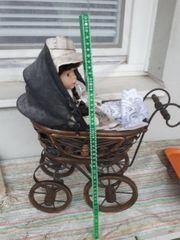 Deko Puppenwagen