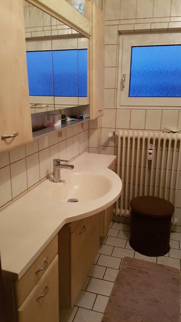 Hoffner Badezimmermobel In Beige Mit Grossen Allibertschrank In