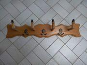 Ausgefallene Garderobe aus Eichenholz mit