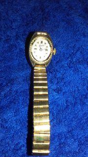 schöne alte goldene Damen Uhr