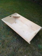 Neuwertiger Waschtrog aus Holz 110x65cm
