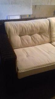 Rattan Couch für Terrasse und