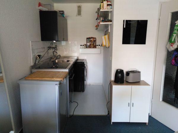 Ikea Küche UDDEN mit Ceranfeld, Backofen und Kühlschrank in ...