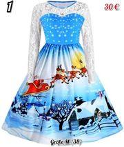 süße Damen Weihnachtskleider Rockabilly Gr