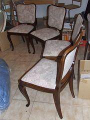 4 Esszimmer-Stühle Chippendale-Antik Bestzustand