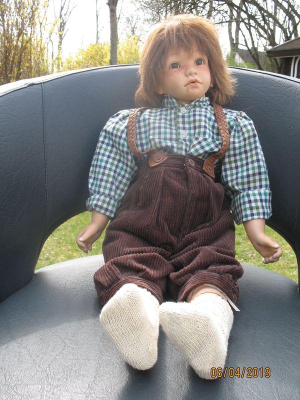 Wunderschöne Steiff Puppe mit Teddy 42 cm Steiff