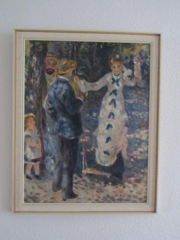 Renoir - Auf der Schaukel - Ein Paar im Grünen -Kunst-Reproduktion ...