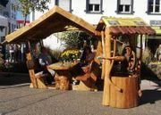 Gartenmöbel Rustikal-Massiv-Einzigartig