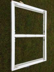 2X Doppel Kunststofffenster u Alufensterbänke