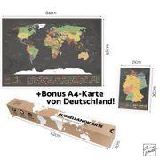 Weltkarte zum Rubbeln Neu
