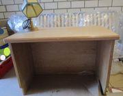 Voglauer Stil-Möbel Schreibtisch und Echtleder-Lampe