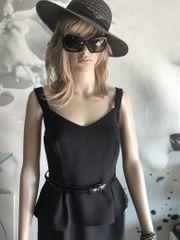 Damenkleid schwarz knielang