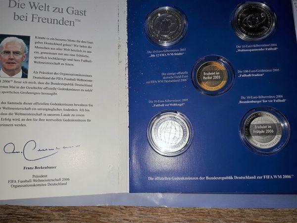 3 X 10 Euro Silbermünzen Fifa Wm 2006 In Bedburg Münzen Kaufen