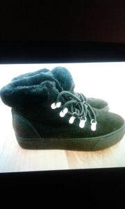 Damen Schuhe schwarz mit Plateauabsatz