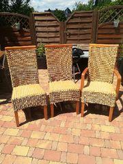 3 Rattan Stühle