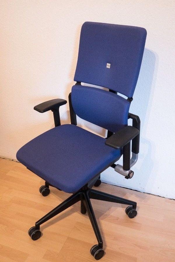 Steelcase Please Bürostuhl. Bürodrehstuhl, Arbeitsstuhl - blau in ...