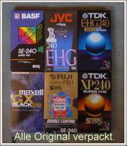VHS Kassetten Original