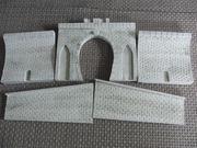 Tunnelportal-Set 1-gleisig aus Gips 5