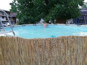 Pool mit Sandfilteranlage