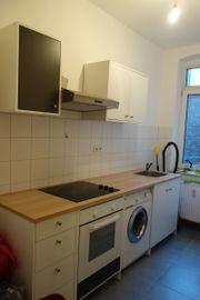 weiße IKEA Küchenzeile