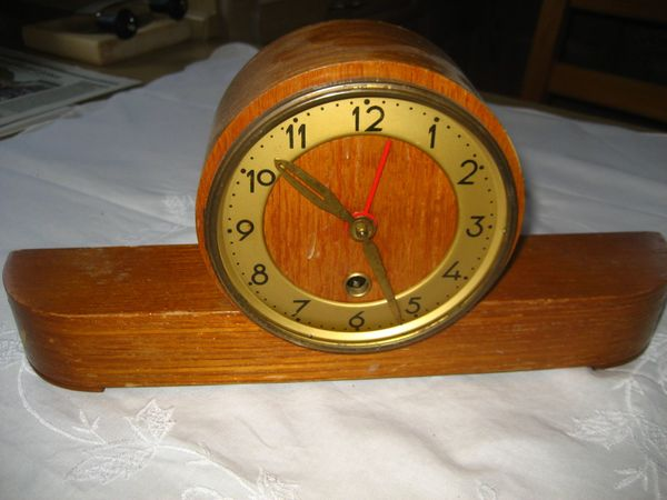 alte Kaminuhr, Uhr, Standuhr, Pendeluhr, Uhrwerk voll funktionsfähig ...