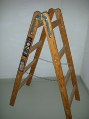 Holzbockleiter, neuwertig