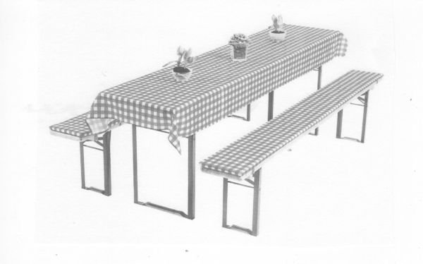 Bierzeltgarnitur 3-teilig » Gartenmöbel
