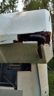 Wohnkabine beschädigt