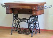 Antiker Büro- PC - Tisch Untergestell