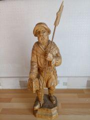 Handgeschnitzte Holzfigur ( Nachtwächter )
