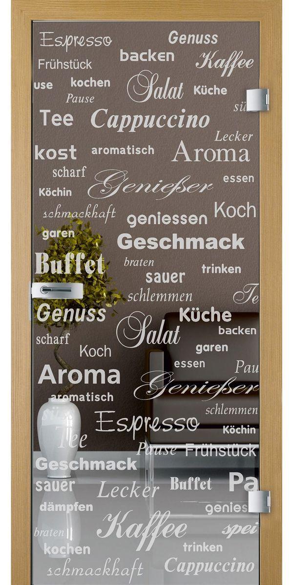 Glastüre mit Schrift; neu in Wald-Michelbach - Küchenmöbel, Schränke ...