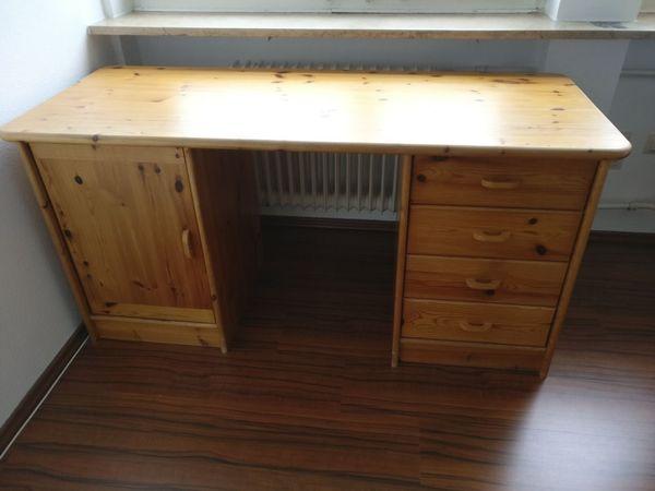 Schreibtisch Viel Stauraum ~ Massivholz schreibtisch mit zwei unterschränken viel stauraum in