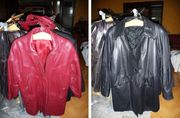 Echt Leder Mantel Jacke Damen