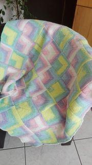 Baby Decke neu und selbstgestrickt