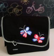 Fahrradtasche mit Schmetterlingsmotiv