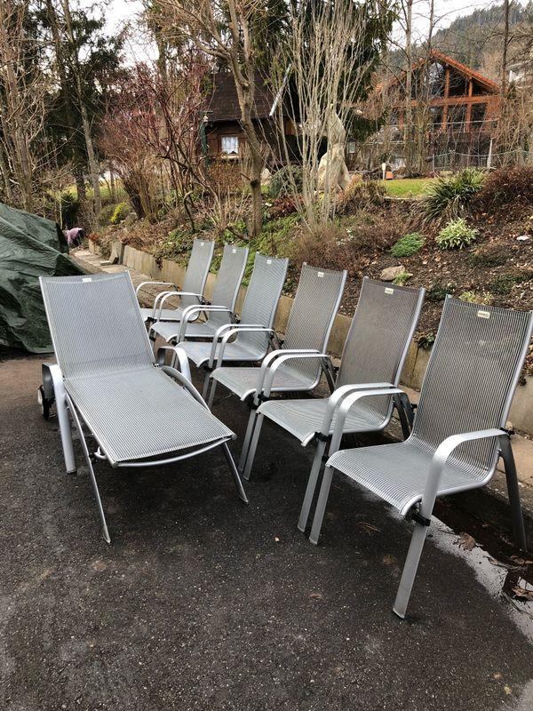 garten terassen möbel tisch stuhl stühle liegestuhl acamp ...