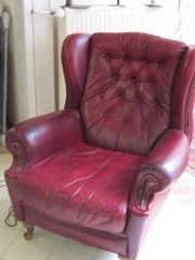 Vintage Chesterfield Sessel