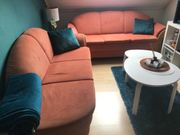 2 Sofas Couch Terrakotta mit