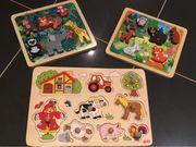 Holzpuzzle für Babys und Kleinkinder