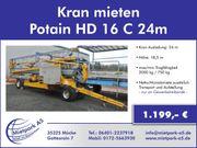 Kran mieten- Potain HD 16